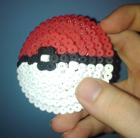 3D Pokeball Perler Beads by Undertakoshi