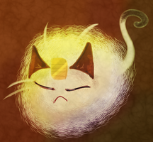 Meowth Puff by uzumakifangirl13