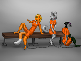 Jailmates - Commission by LazuliLupin