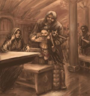 to unwritten tale about a dwarf (ill. 9) by Irsanna