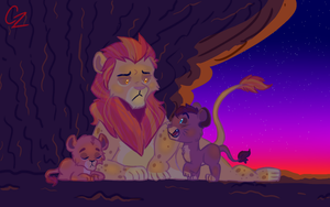 morning with uncle kion by Caroline263