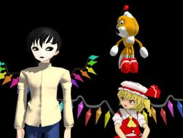 [MMD] Masky and Flandre Scarlet by smilecat98