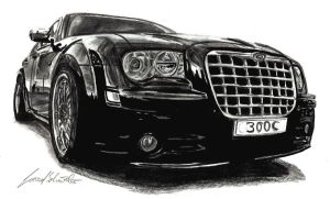 Chrysler 300c black by Lowrider-Girl