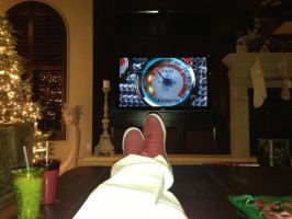 Zak watching Elf by MJandGhostAdventures
