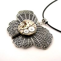 Steampunk Butterfly Pendant Watch Movt. by SteamSect