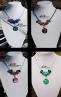 Troll Bead Necklaces by zeldalilly