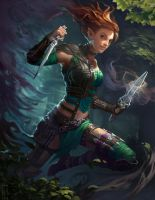 Neverwinter PCGamer Cover: Xuna by CarmenSinek
