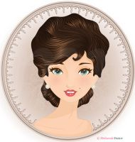 Gibson Girl Portrait by Melisendevector