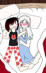 Huggy Rwby (RWBY- White Rose) by HuskyPosionClaws