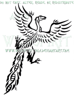 Tribal Archaeopteryx Design by WildSpiritWolf