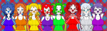 Ballerina Clown Group Shot (RP-able) by Firingwall