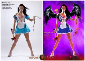 Bloody heart Cupid - Before/After by MorganaVasconcelos