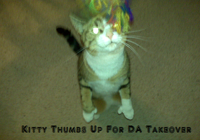 Thumbs Up for Cat Take Over by DairuAnubis