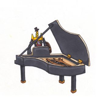 Aegislash on the Grand Piano - Charity Collab by SenpaiTurboblaze