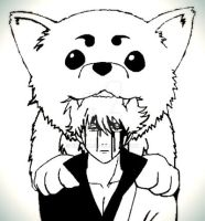 Gintoki and Sadaharu by Bihter1