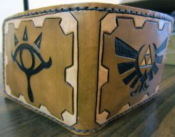 Legend of Zelda Leather Wallet by Kaje202