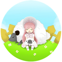 Mary with the Lambs by LuckyCream