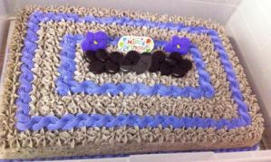 Oreo Buttercream Birthday Cake by InkArtWriter