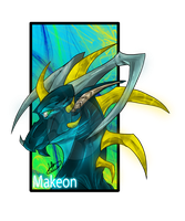 .:Commission:..:Makeon:. by Dark-Spine-Dragon