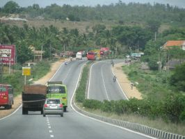 Bangalore-Mysore Road by icy-cool
