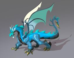 sharp-edged Dragon - Blue by Gilmec