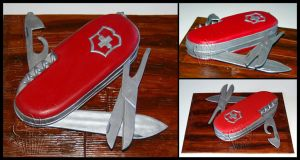 Swiss Army Knife Cake by CakeUpStudio