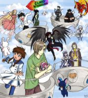 CLAMP Wonderland in color by Frostocelot