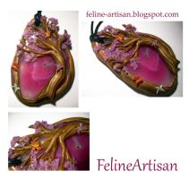 Enchanted Forest Agate Pendant 2.0 by FelineArtisan