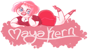 pink hair site banner! by mayakern