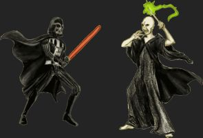 Darth Vader vs. Lord Voldemort by Mbecks14