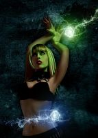 Girl with orbs:) by fantasmadesign