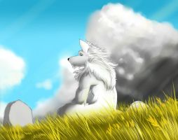 Admist the Wind by Lycan-fennex