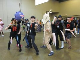 A-Kon 24: Team Rocket and Marowak Attack! by Inept-Evil-Genius