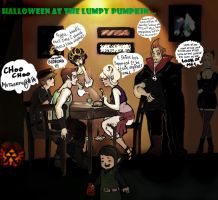 Halloween at the Lumpy Pumpkin by FebruaryMint