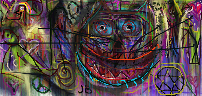 Psychedelic Cheshire by johnrbates