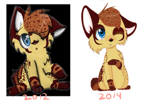2 Year Difference by KittenthePsycho