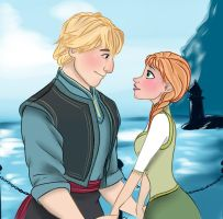 Anna and Kristoff-Frozen by jenniferpistol309