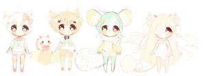 ::Set Price kemonomimi adopts:: 1CLOSED by Hinausa