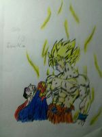 Goku Vs Superman by gaberielle
