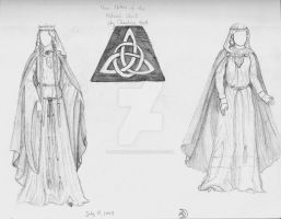 Celtic dresses by ArwenAmidala