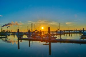 Maritime Port Sunset starburst November 29 2014 3 by ENT2PRI9SE