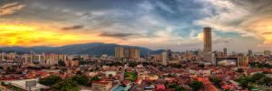 Georgetown, Penang view during Sunset (Pano style) by fighteden