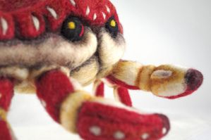 Needle Felt Crab by AlwaysSuagarCoated