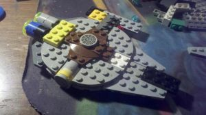 WIP Lego Mini XS Stock Light Freighter. by The-Jedi-Exile