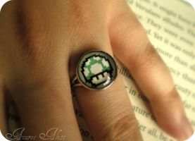 1 up Mushroom Ring by AzureeAlice