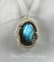 Big Labradorite and Sterling Silver II by blackcurrantjewelry