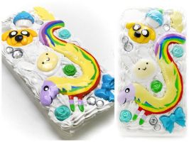 Adventure Time Decoden iPhone Case by dimeycakes