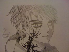 Tsukune Aono Ghoul Form From Rosario Vampire by captonstu