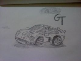 Ford GT Chibi style drawing by Skull1000