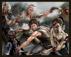Dixon Justice: Daryl and Merle Dixon -by AJ Moore by GudFit